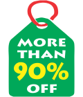 More than 90% Off