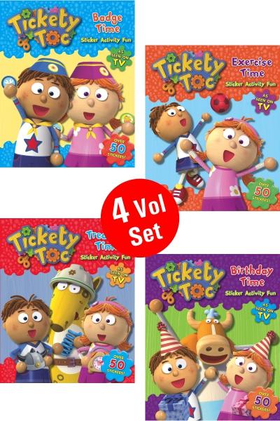Tickety Toc Sticker Activity Fun Series (4 Vol.set)