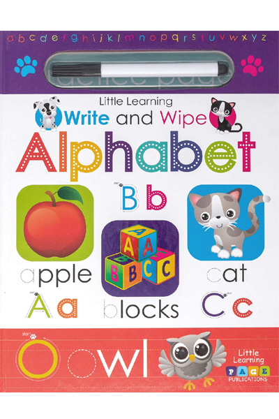 Little Learning  : Write and Wipe : Alphabet - Board Book