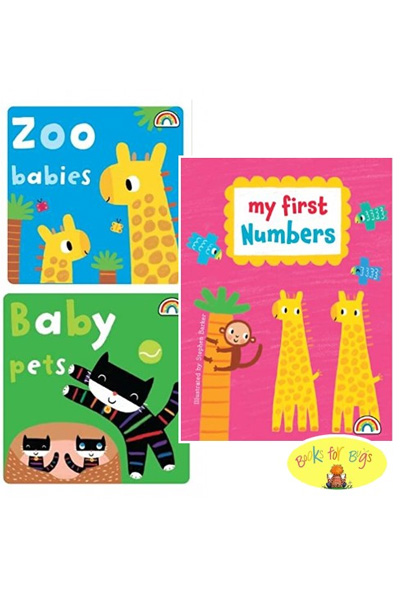 My First Numbers Collection Zoo Babies & Baby Pets Board Book Set