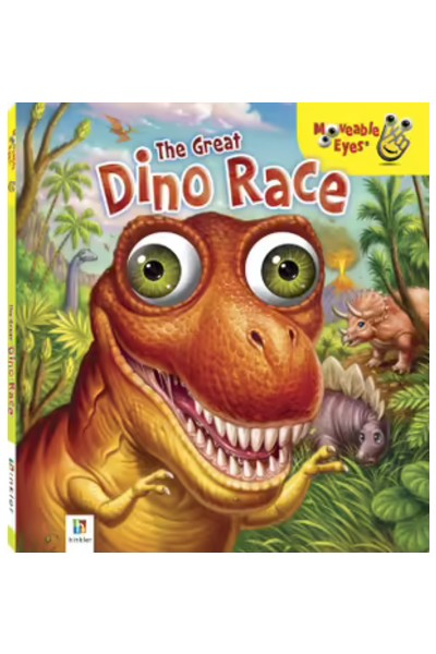 Moveable Eyes: The Great Dino Race - Board Book