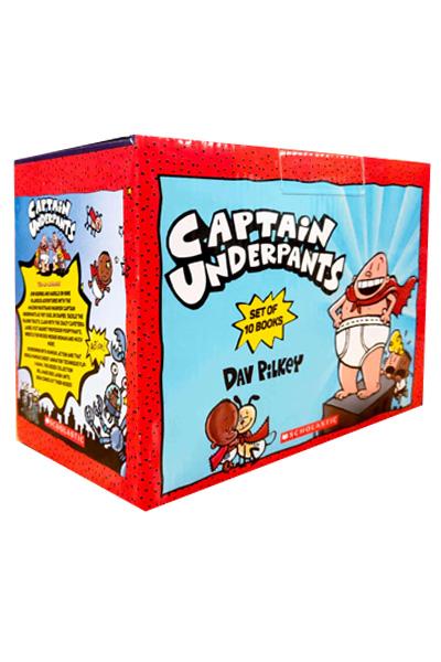 Captain Underpants Box Set (10 Books)