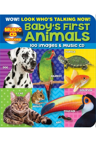 100 Plus Baby's First Animals - Point and Learn Kids Board Book with Bonus Music CD
