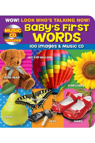 100 Plus First Words Point and Learn Kids Board Book with Bonus Music CD