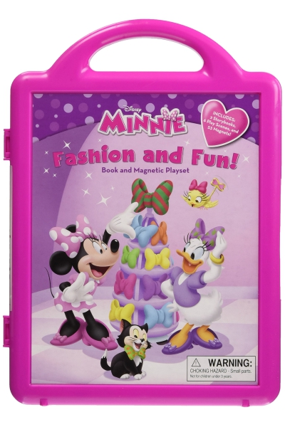Minnie's Fashion and Fun: Book and Magnetic Playset