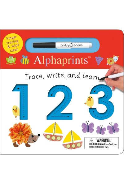 Alphaprints: Trace...Write...and Learn 123 (Finger Tracing & Wipe Clean) Board Book