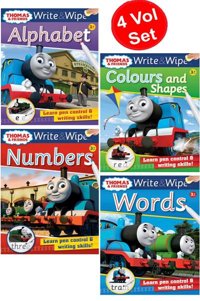 Thomas & Friends: Write & Wipe Series (4 Vol Set)