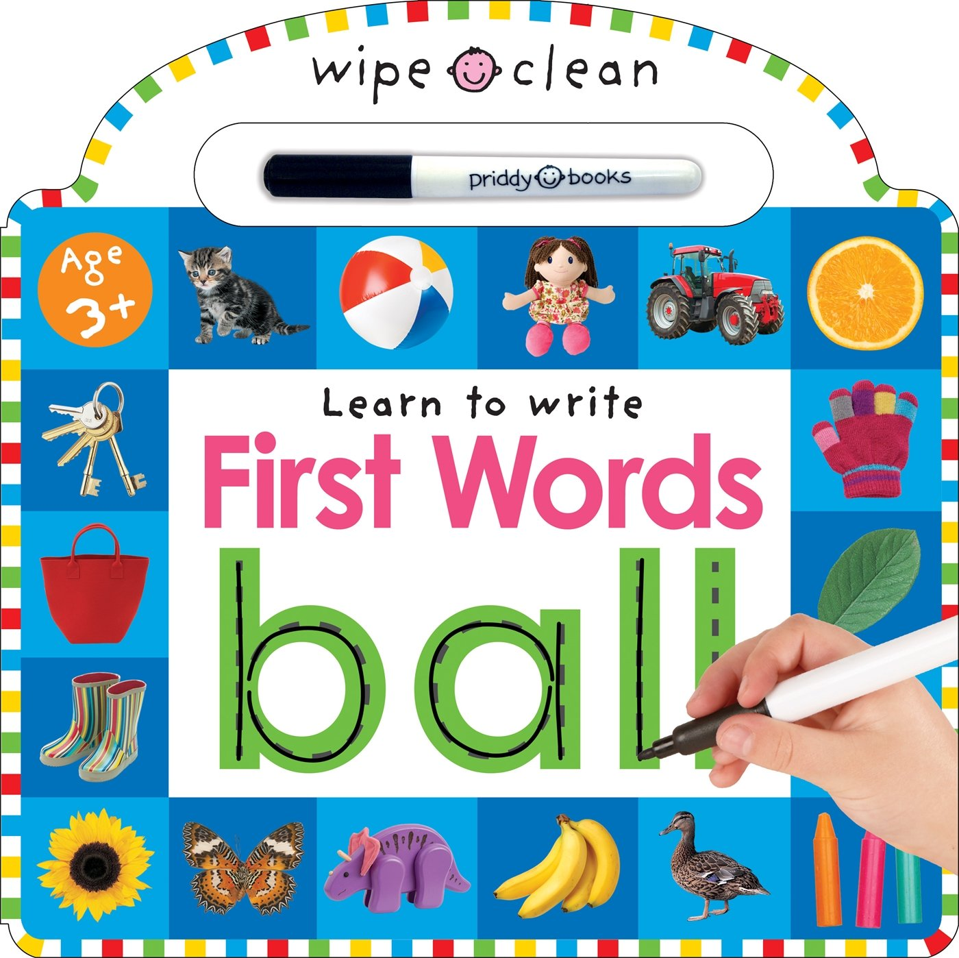 Wipe Clean: First Words - Board book