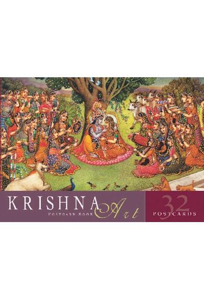 Krishna Art: Postcard Book