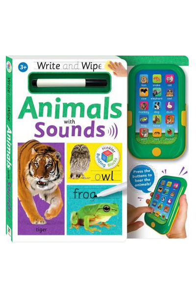 Write & Wipe: Animals with Sounds (Board Book)