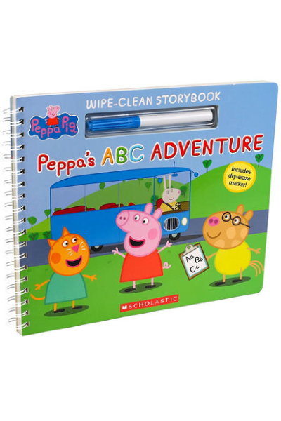 Peppa Pig: Peppa's ABC Adventure (Wipe-Clean Storybook)