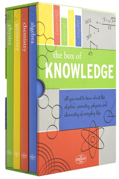 The Box of Knowledge: Chemistry, Physics, Geometry & Algebra (4 softcover books in case)